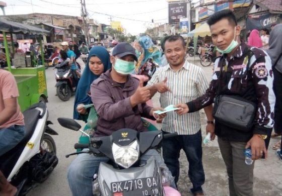 Sambut Hari Pahlawan, Sapma IPK Batubara Bagikan 1000 Masker