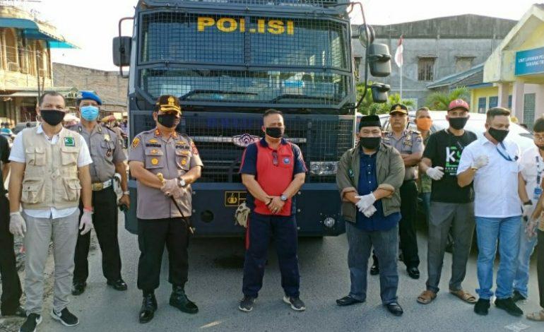 Antisipasi Wabah Corona, Jalan Protokol Kota Tanjung Tiram 'Diseterilkan'