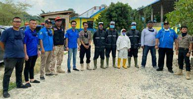 Antisipasi Copid-19, Anggota DPRD Andi Lestari dan Karang Taruna Semprotkan Disinfektan