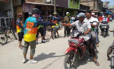 Gowes Sepeda Bersama B3C, Ali Hatta Distribusikan 750 Masker ke Masyarakat