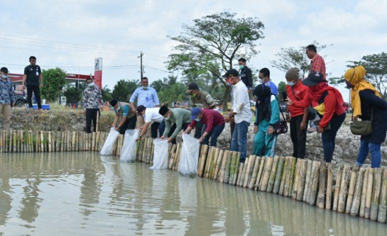 Dorong Jadi Masyarakat Industri, Zahir Berikan Bantuan Bibit Ikan