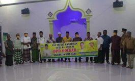 Safari Ramadhan di Masjid Alfi Syahrin, DPD Golkar Batubara Didoakan Jama'ah